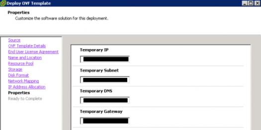 vRPA deployment ip addresses
