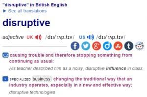 disruptive dictionary