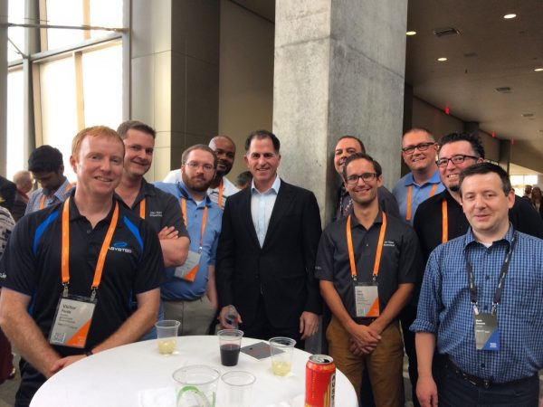 EMC Elect and Michael Dell at DellEMCWorld