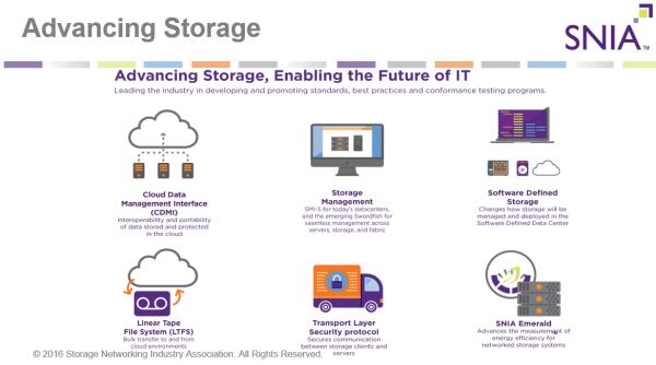 SNIA advancing storage