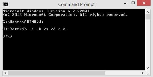 command to remove shortcut virus in pendrive