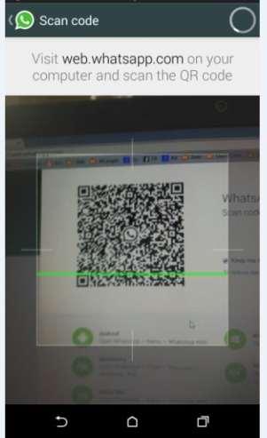 whatsapp web QR Code scanning