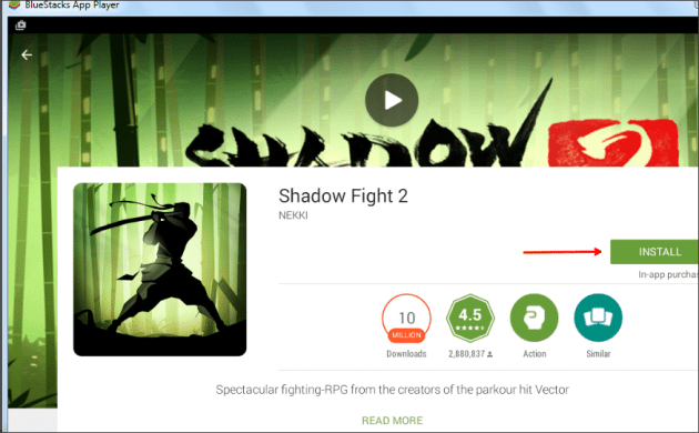 Install Shadow Fight 2 in laptop