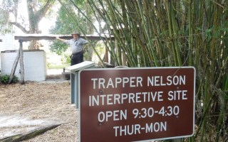 A Florida State Parks Ranger at Trapper Nelson's