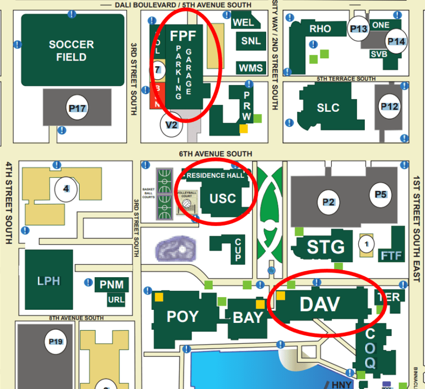 USFSP Campus Map | Florida Anthropological Society