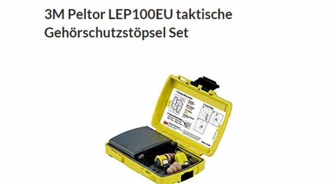 3M Peltor Gehörschutzstöpsel Set | Cyber Monday Angebotswoche