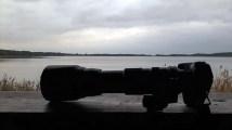 meine Kamera als Skizzenblock - beim Warten auf die Kraniche am Rederang See (c) FRank Koebsch