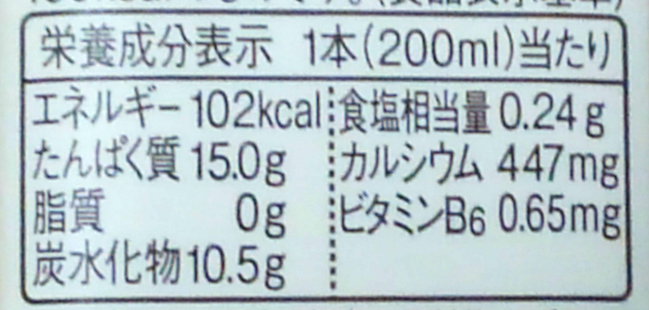ザバスミルクプロテイン_ココア風味栄養成分