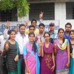 Student union elections 2014 Chirmiri, चिरमिरी के लाहिडि कालेज मे छात्र संघ चुनाव