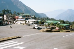 The airport at Lukla is very small