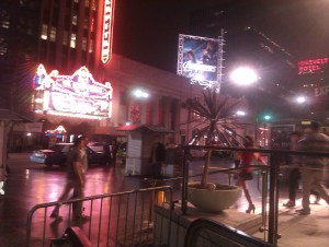 Hollywood Blvd at night