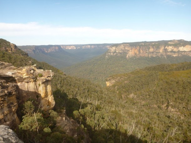 The Grose Valley as seen from the walking track.