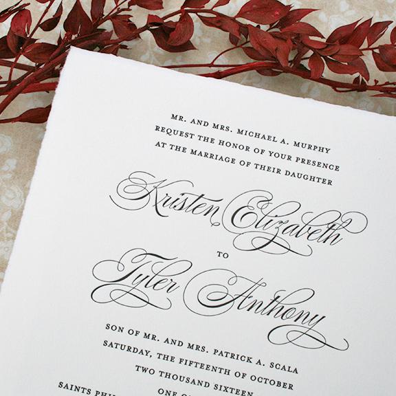 Kristen+Tyler, classic wedding invitation