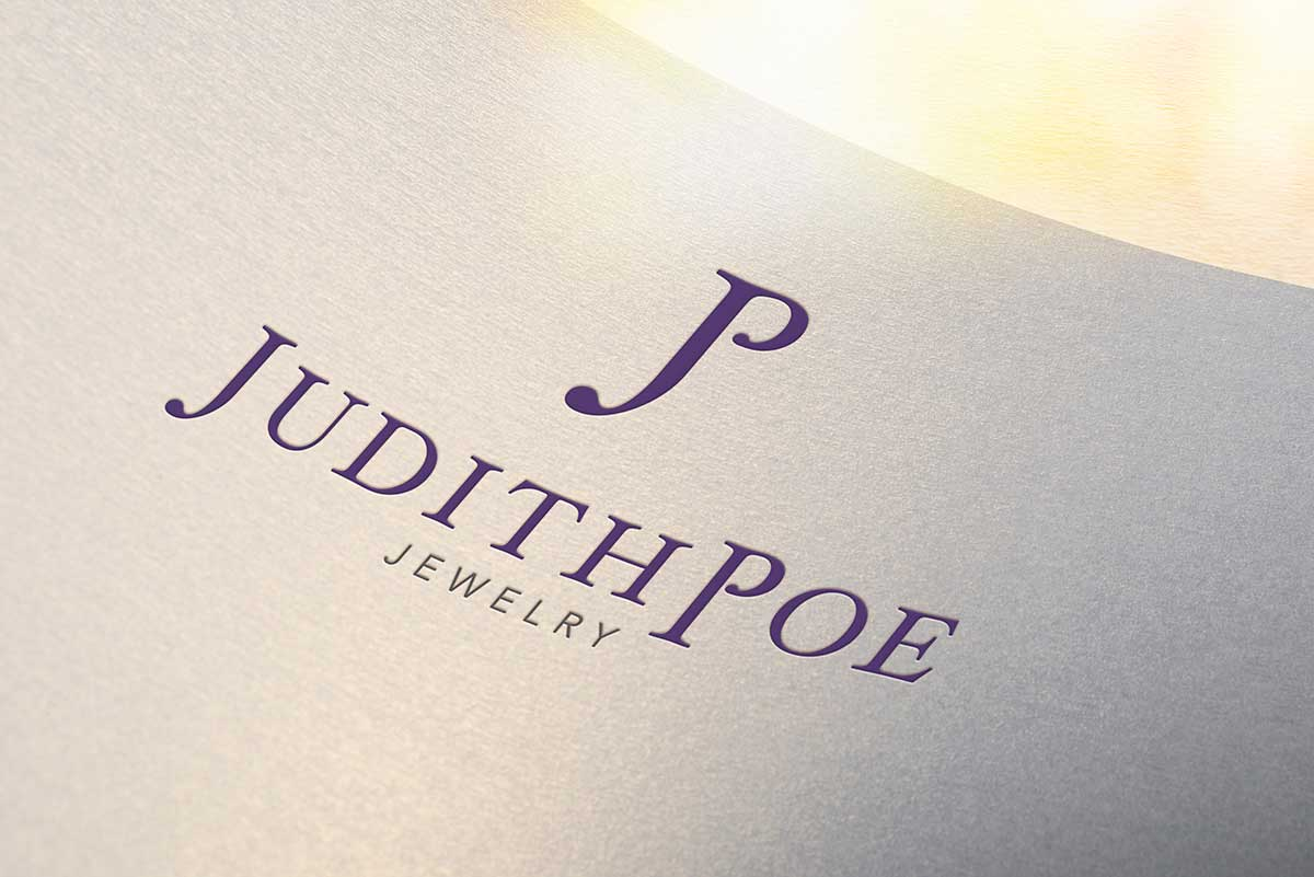 Judith Poe Jewelry logo design