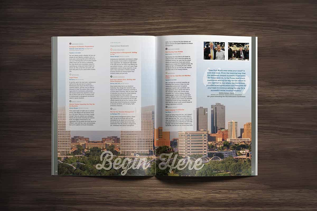 Texas Apartment Association convention program design