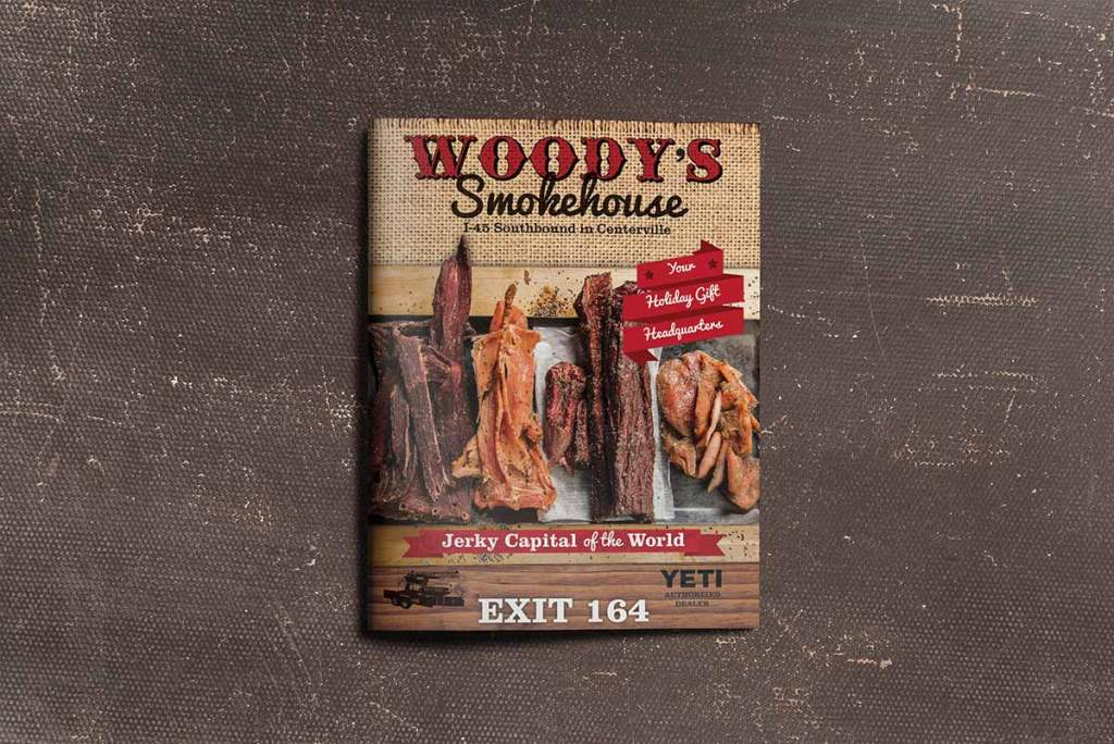 Woody's Smokehouse print ad