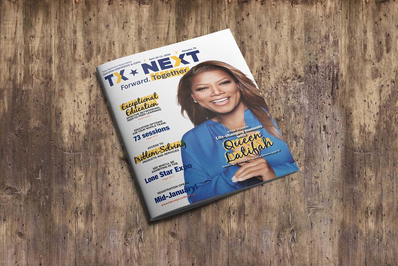 Texas Apartment Association program cover design