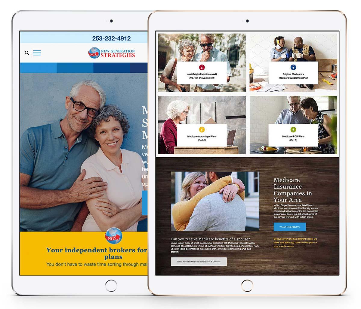 New Generation Strategies website on an iPad