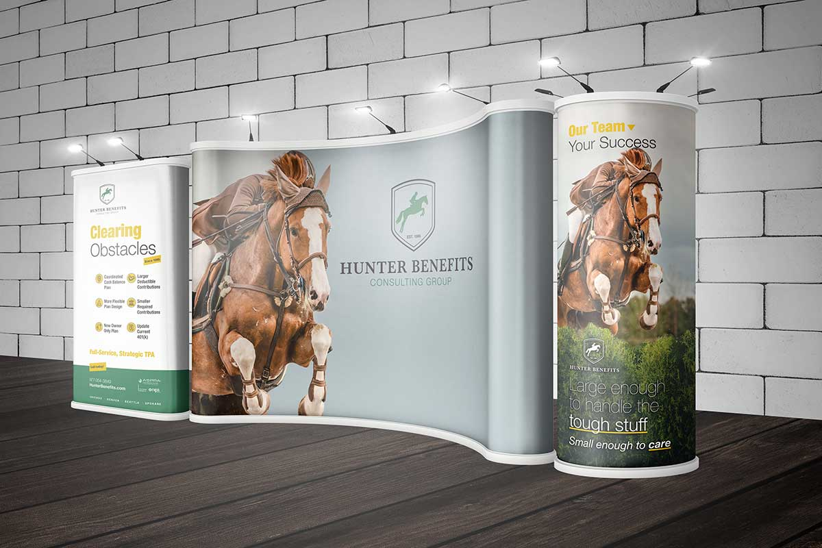 Hunter Benefits Consulting Group Rebrand and Trade Show Booth