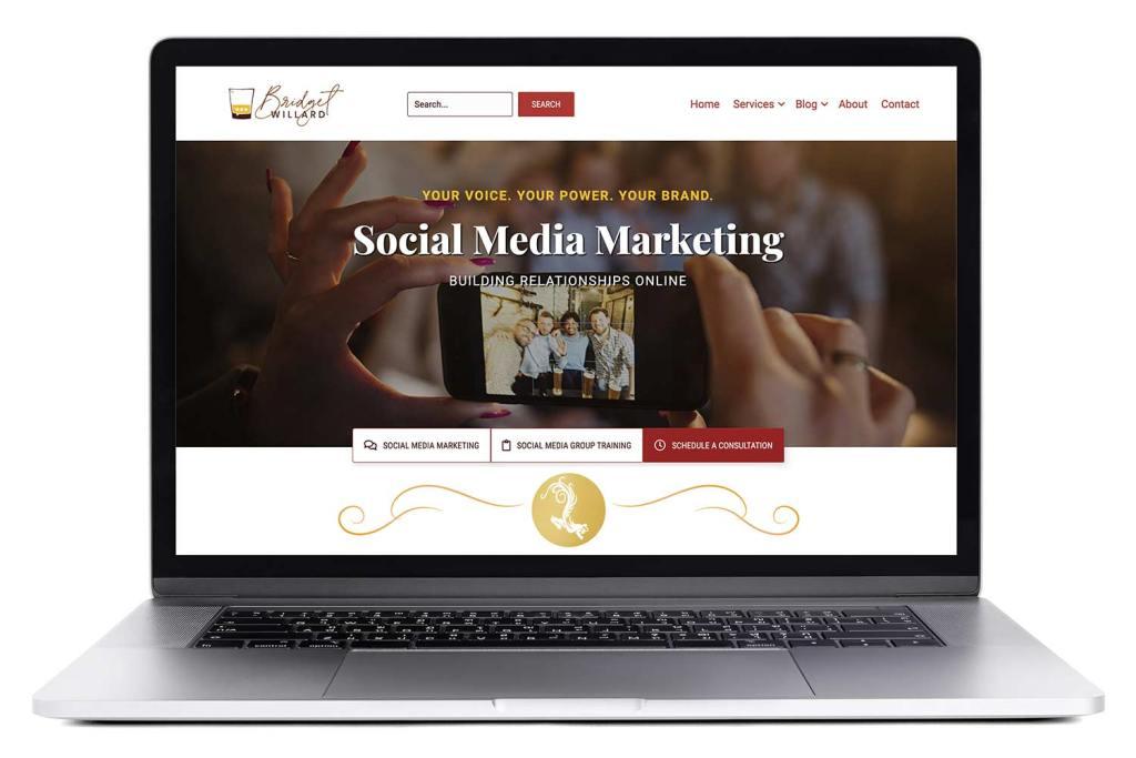 Responsive Website for Bridget Willard dot com on a Macbook