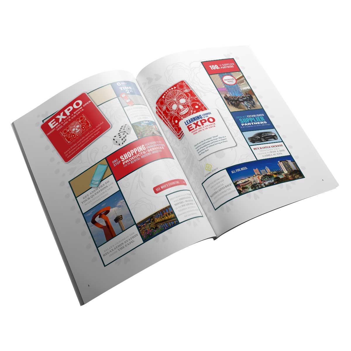 TX One, Texas Apartment Association's 2021 event program layout