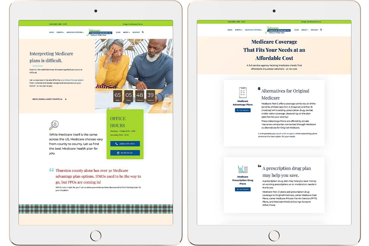 Brian Johnson Insurance Solutions website