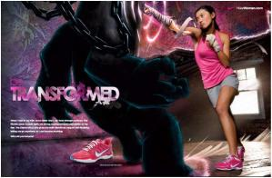 The lead magazine ad for Nike's Sister One campaign across Asia