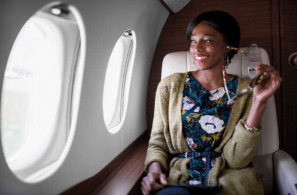 Get used to this picture: black women with so much wealth we ride in first class