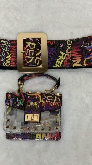 FFF - Black Graffiti Clutch Set