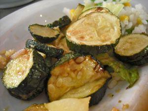 Vegetables in balsamic dressing