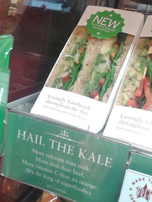 Kale sandwich