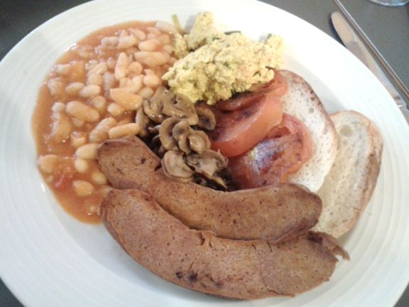 All day vegan fry up is impressive at Saf