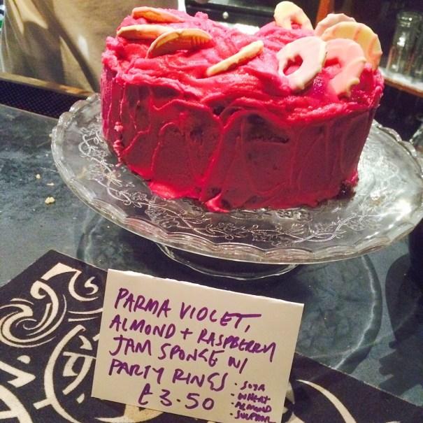 Parma violet cake vegan