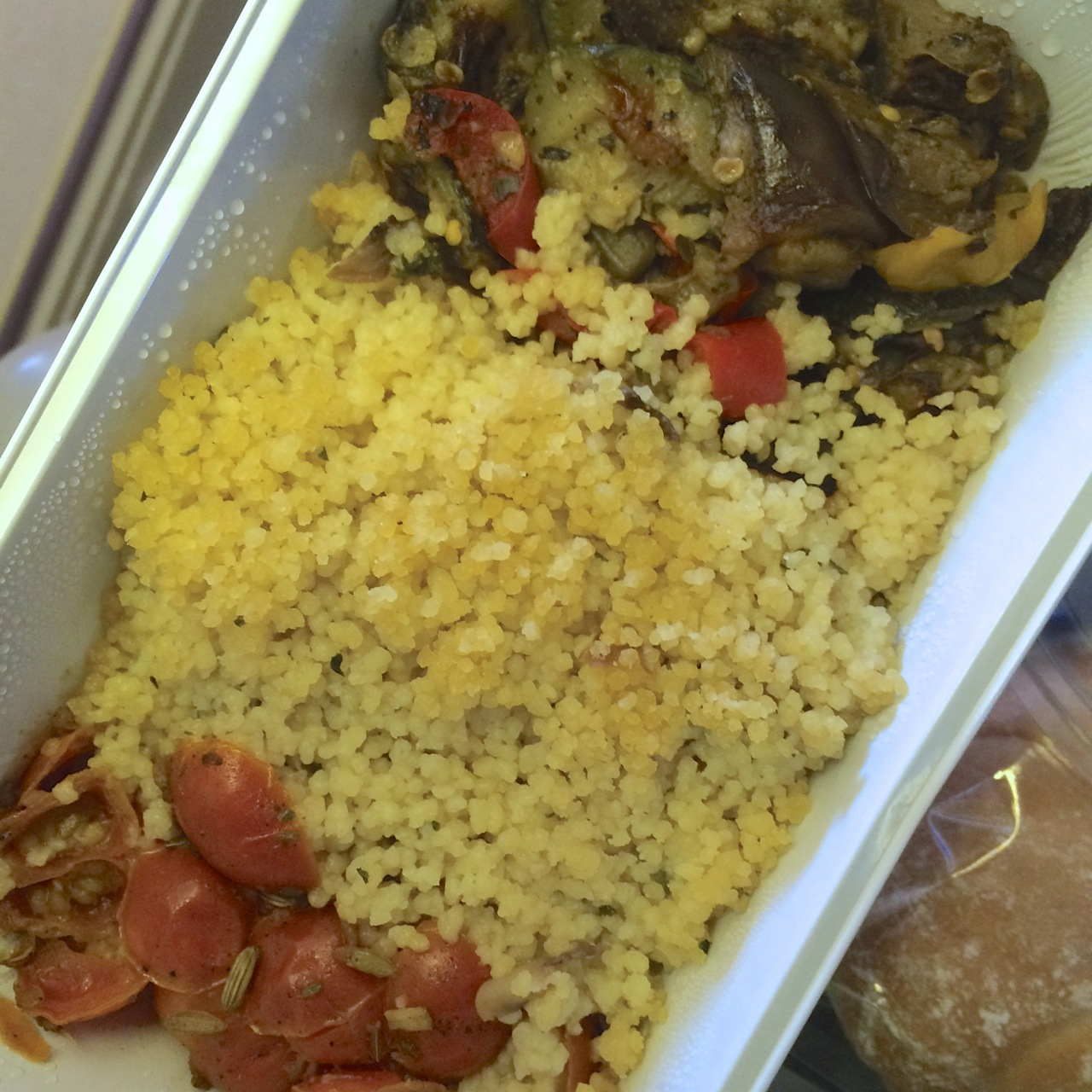 Vegan BA meal in flight