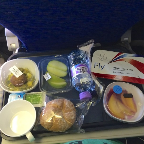 main vegan meal on British Airways
