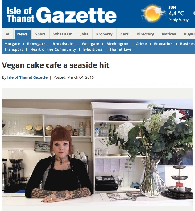 thanet vegan cake story