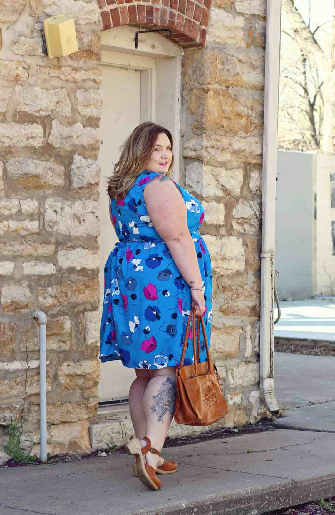 Bright And Blue Plus Size Dress - Fat Girl Flow