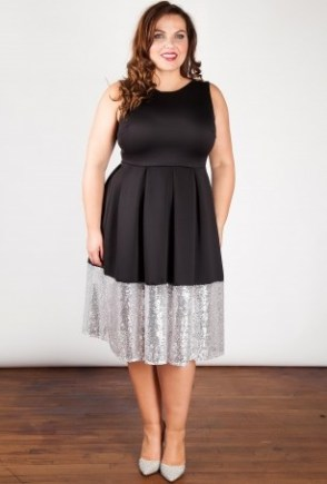 beloved-endeavour-black-silver-sequin-border-dress-sleeveless-plus-size
