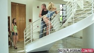 (Alexis Texas) sucks cock and gets pounded on the stair case – Digital Playground