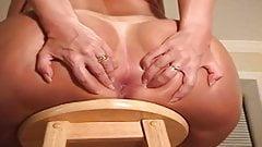 big fat ass on a stool