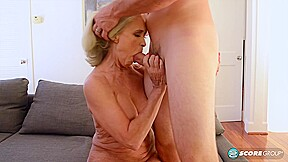 Big ass blonde milf, Katia is having wild sex with JMac and getting her slit creampied