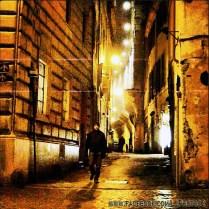 Giancarlo walking near the Pantheon