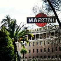 Martini sign near Via Veneto