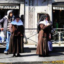 Nuns at a bus stop