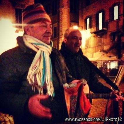 Street musicians near the Pantheon