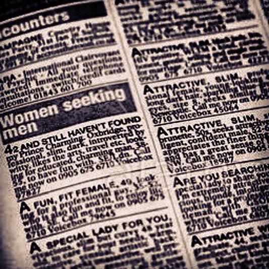 Personal ads men seeking women