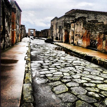 Streets of Pompeii - Pompeii, Italy