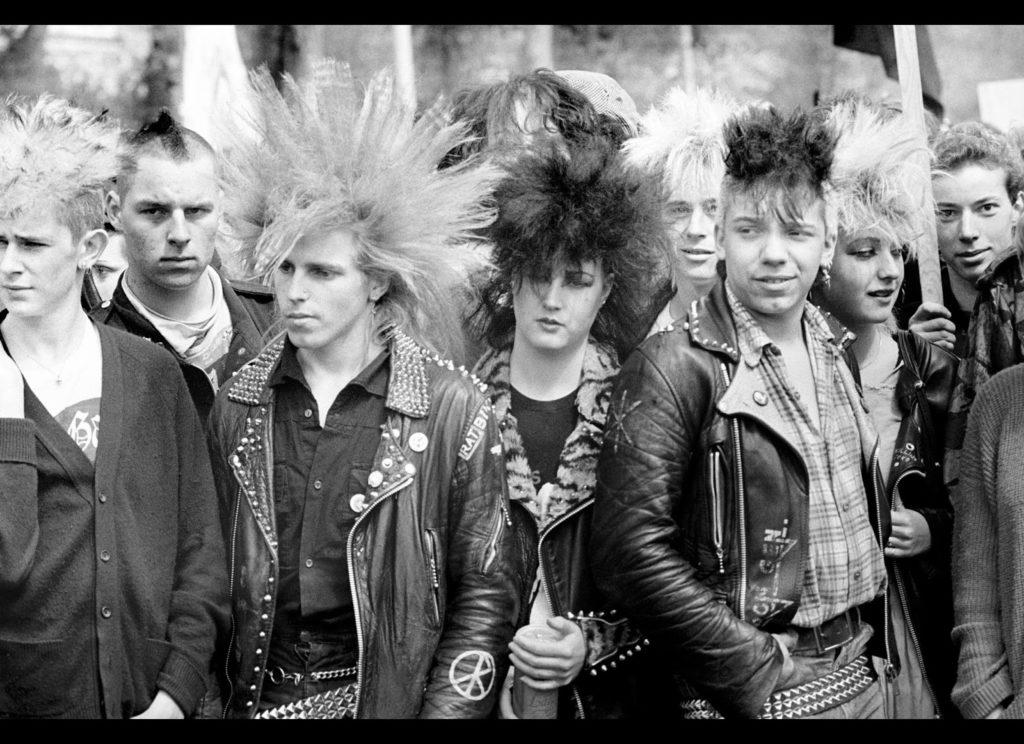 80s old school punks hair