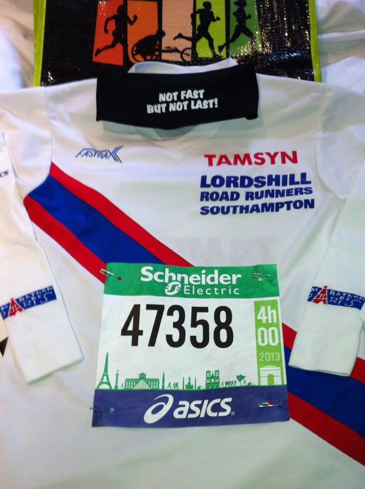 Paris Marathon flat lay
