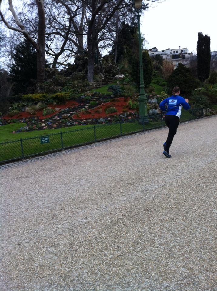 Running in Parc Monceau